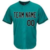 Pullonsy Aqua Custom Baseball Jersey for Men Women Youth Full Button Stitched Name & Numbers S-8XL - Make Your Own