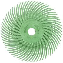 """Dedeco Sunburst - 3"""" TC Radial Bristle Discs - 3/8"""" Arbor - Industrial Thermoplastic Rotary Cleaning and Polishing Tool, Ultra-Fine 1 Micron (12 Pack)"""