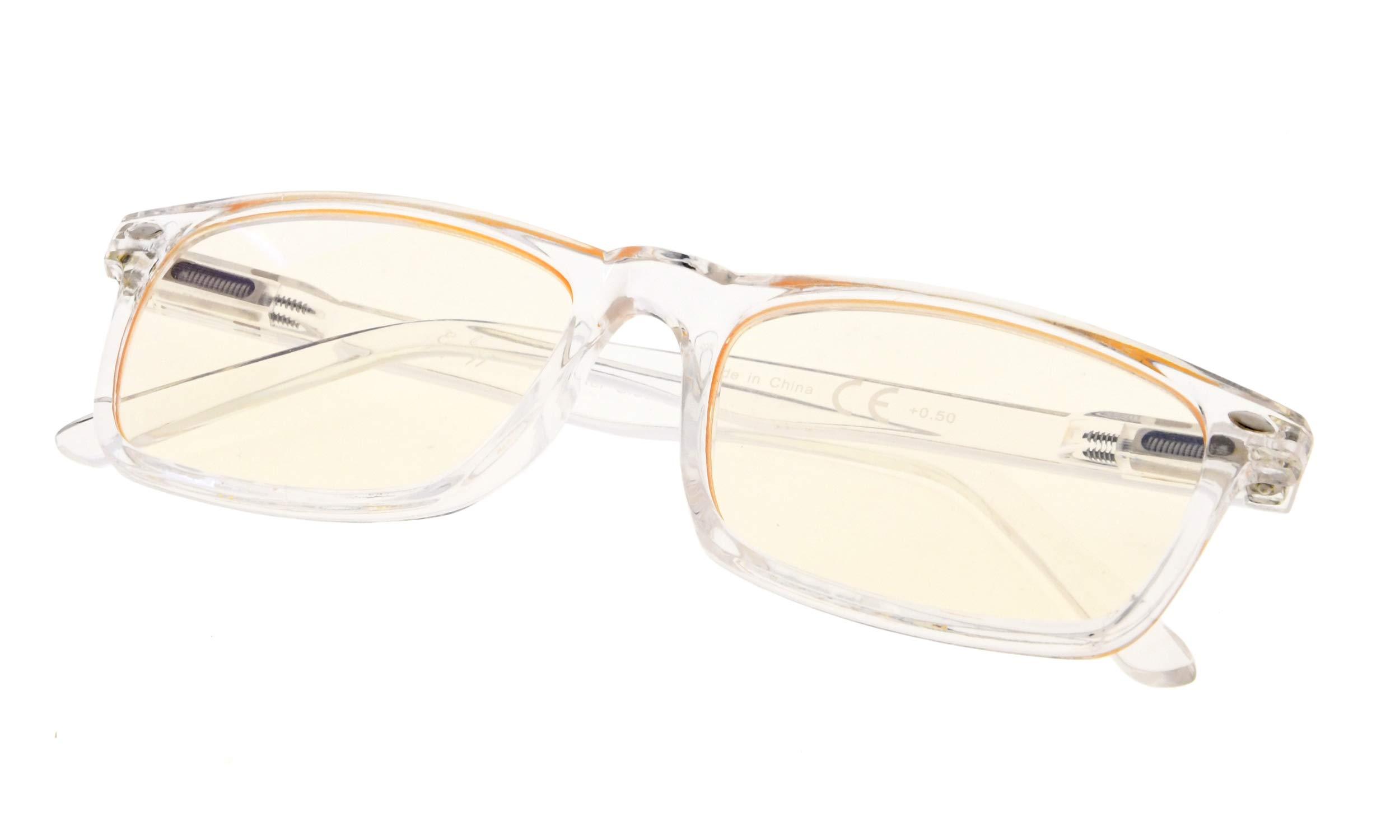 Blue Light Blocking Computer Glasses,Stylish Reading Glasses for Women/Men