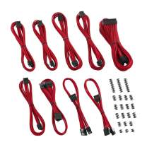 CableMod C-Series ModMesh Classic Cable Kit for Corsair AXi/HXi/RM (Yellow Label) - RED [cm-CSI-CKIT-NKR-R]