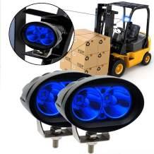 Led Forklift Safety Light, 2x Blue 20W Cree LED Forklift Lights 12V 24V Warning Work Warehouse Lights SpotLight For Fork Truck Security Indicator