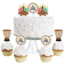 Big Dot of Happiness Happy Kwanzaa - Dessert Cupcake Toppers - African Heritage Holiday Party Clear Treat Picks - Set of 24