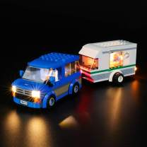 BRIKSMAX Led Lighting Kit for Great Vehicles Van & Caravan - Compatible with Lego 60117 Building Blocks Model- Not Include The Lego Set
