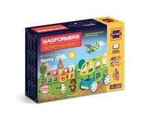 Magformers My First Play Set (100 Pieces) Magnetic  Building   Blocks, Educational  Magnetic  Tiles Kit , Magnetic  Construction  STEM Toy Set