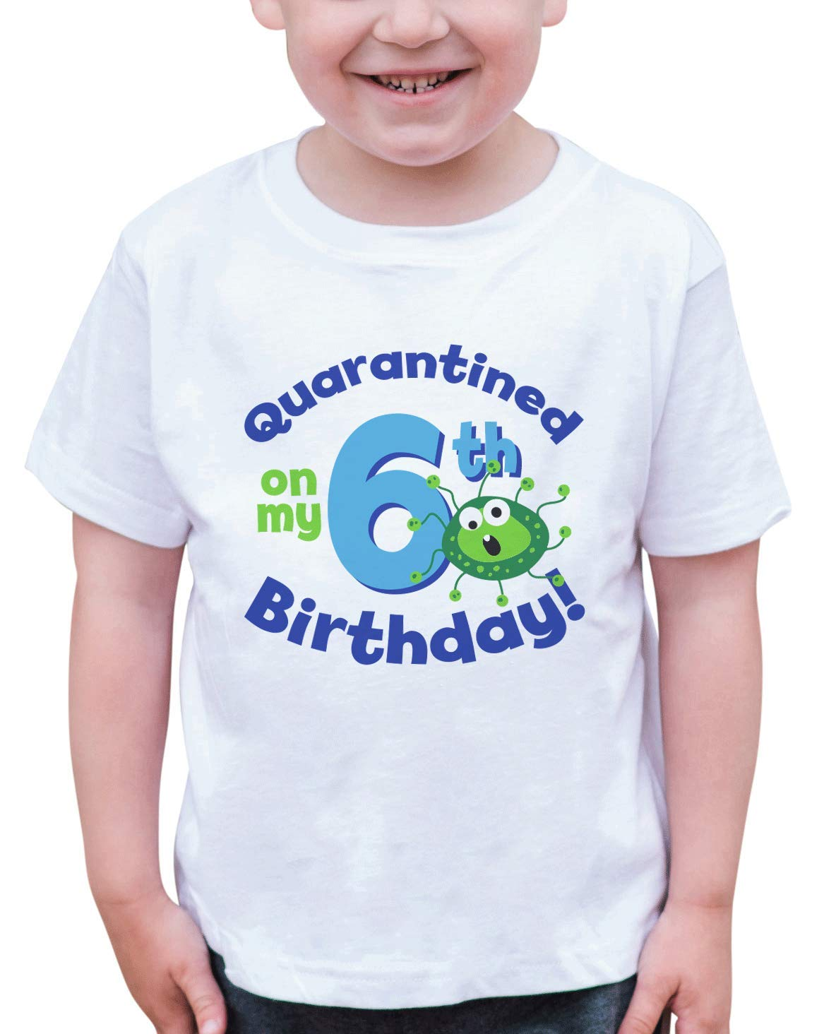 7 ate 9 Apparel Kids Six Birthday Quarantine Germ Shirt