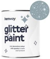 Hemway Silver Glitter Paint 1L Matte Walls Wallpaper Bathroom Furniture Acrylic Latex (Dark Skies)