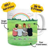 Custom Best Friend Coffee Mug for Women - Personalized Photo Gift for Friend Women - Customizable Name Cup For Christmas Gifts Besties Friendship BFF Bridesmaid Graduation Birthday Moving Away