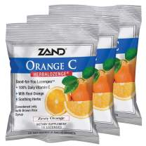 Vitamin C Lozenges w/ Herbal Extracts for Soothing Throat | No Corn Syrup, Cane Sugar or Artificial Colors | 15ct, 3 Bag