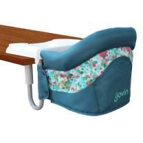 Hook On Chair, Fast Table Chair with Dining Tray for Babies and Toddlers, Portable High Chair for Home and Travel (Denim Blue/Atrovirens)