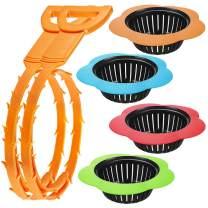 AIFUDA 2 Pcs Hair Drain Clog Remover 4 Set Plastic Sink Strainer Drain Filter Basket,for sink drain cleaning