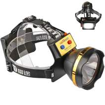 LED Rechargeable Headlamp Flashlight with Super Bright Back White Lamp, Long Distance and Runtime, for Emergency, Searching, Fishing, Camping, Hunting, Hiking, Reading