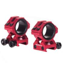 """WestHunter Optics Picatinny Scope Rings, 1""""/30 mm Tactical Precision High/Low Profile Scope Mount"""