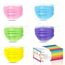 Colorful Adult Face Mask 50 Pack Daily Use, Breathable Disposable Masks Non-Woven Mouth Cover