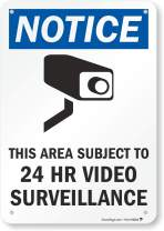 "SmartSign ""Notice - This Area Subject to 24 Hr Video Surveillance"" Sign 