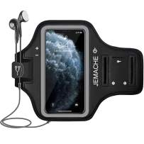 iPhone 11 Pro Max, Xs Max Armband, JEMACHE Water Resistant Gym Running Workouts Arm Band Case for iPhone 11 Pro Max, Xs Max (Black)