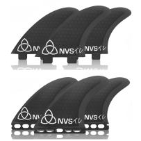 Naked Viking Surf NVS: Medium TC Thruster Surfboard Fins (Set of 3) FCS & Futures