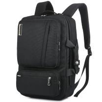SOCKO 17 Inch Laptop Backpack Convertible Backpack Travel Computer Bag Hiking Knapsack Rucksack College Shoulder Back Pack Fits up to 17 Inches Laptop Notebook for Men/Women, Black