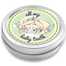 FANS & Friends Baby Tooth Box Keepsake Girl & boy, Baby Teeth Box Metal, Tooth Fairy Gifts, Tooth Box for Lost Teeth, Tooth Holder, Tooth Saver for Kids (Green)