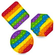Jofan 3 Pack Colorful Pop Sensory Fidget Toys Squeeze Sensorys Toys for Kids Students Friends to Stress Relief