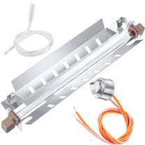 Jovitec Refrigerator Defrost Replacements, WR51X10055 Defrost Heater, WR55X10025 Temperature Sensor, WR50X10068 Defrost Thermostat Compatible with GE