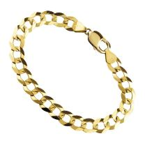 18K Solid Gold 1.8MM, 2.5MM, 3MM, 3.8MM, 4.5MM, 5.5MM, 7MM Cuban Curb Link Chain Necklace- Made In Italy