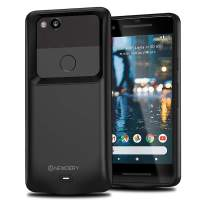 NEWDERY Pixel 2 Battery Case, Pixel 2 Charging Case, 4700mAh Extended Charger Case for Google Pixel 2 (5 Inches Black)