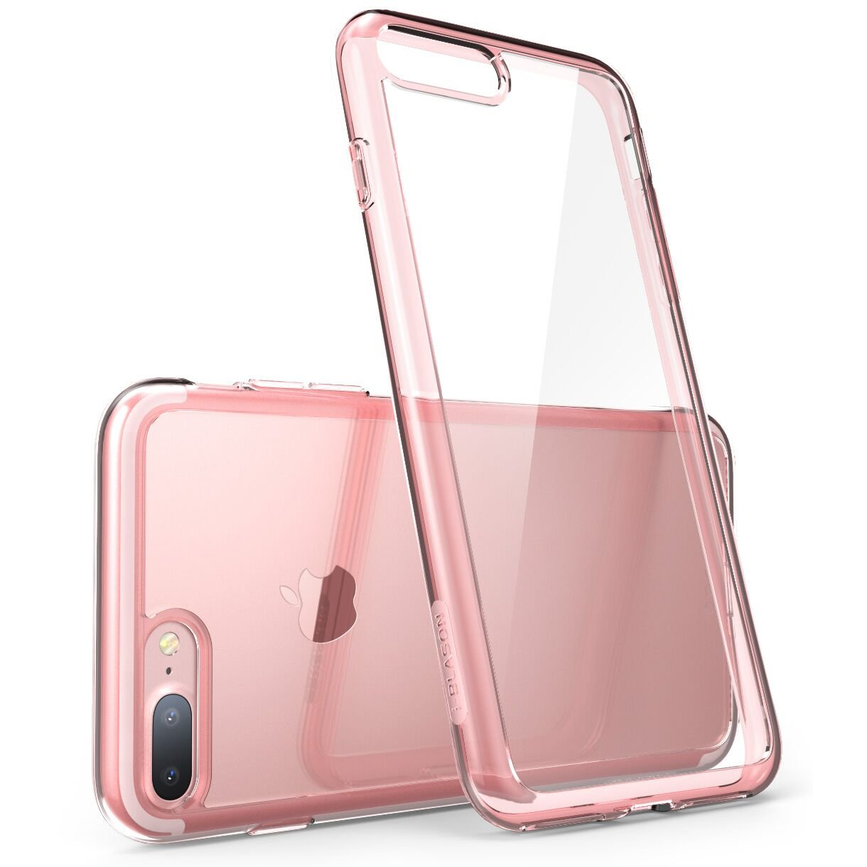 i-Blason Case for iPhone 7 Plus 2016 /iPhone 8 Plus 2017 Release,  Halo Series   Scratch Resistant  Clear Case (Clear/Rose Gold)