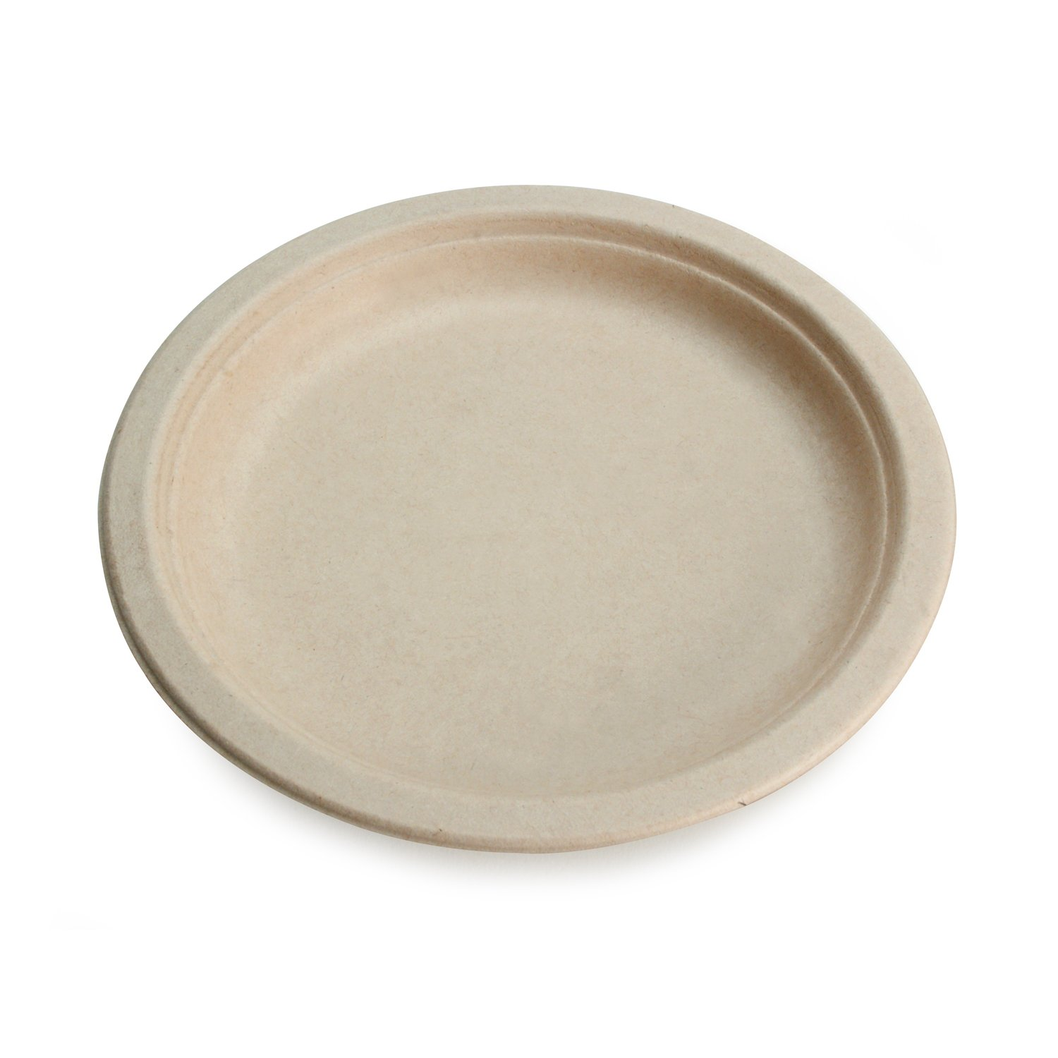 """Earth's Natural Alternative ECOL003pk160 Eco-Friendly, Compostable Plant Fiber 10"""" Plate, Natural, 20 Count, Tan"""