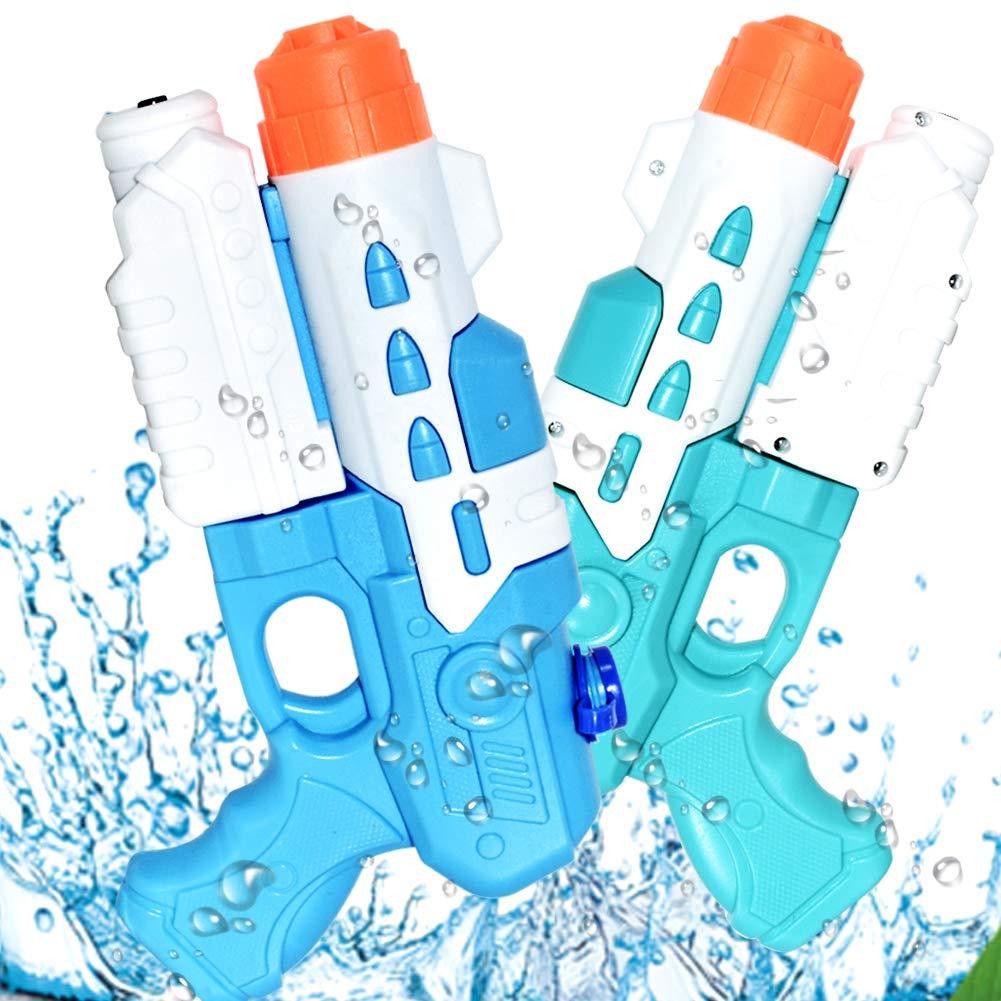 KULARIWORLD 2 Pack Water Guns for Kids Super Squirt Gun Water Soaker Blaster Pool Toys for Boys Girls Summer Swimming Beach Sand Outdoor Water Fighting Play