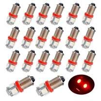 EverBrightt 20-Pack Red BA9S 5050 5SMD Led Bulbs Car Door Lights Wedge Light 12V