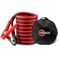 RUGCEL Winch 6-Gauge Permanent Installation Kit Jumper Battery Cables 12 Ft Booster Jump Start Allows You to Boost a Battery from Behind a Vehicle