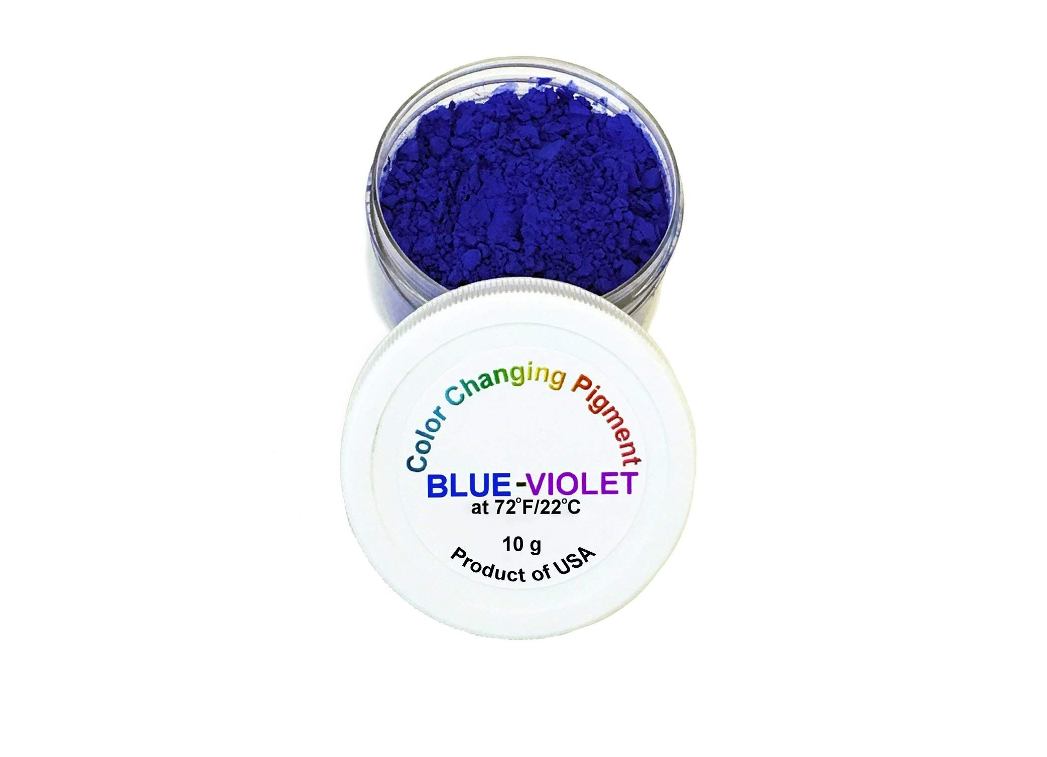 Temperature Activated Thermochromic Powder Pigment Blue Changing to Violet at 72F/22C Perfect for Color Changing Slime Goo Play Doh