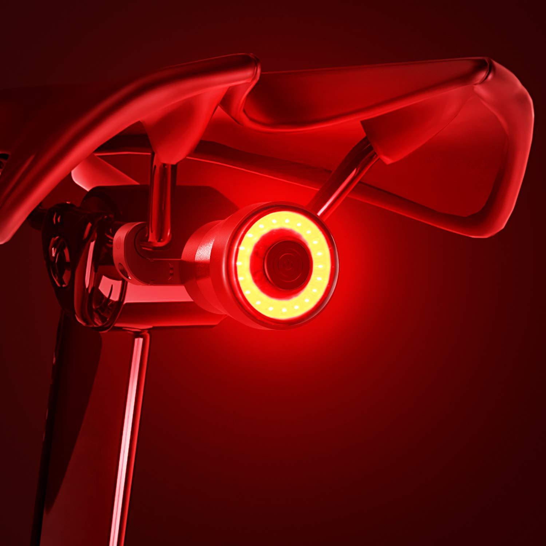 【2021 Upgraded Version】 Bike Tail Light, Bicycle Rear Brake Lights, Braking Sensing Taillights, USB Rechargeable ,Ultra Bright LED Warning Bicycle Flashlight Auto On/Off Sensor IPX5 Waterproof