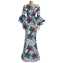 Afripride African Maxi Dresses for Women Ankara Print Female Party Dress A1925035