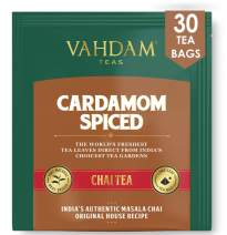 Cardamom Chai Tea - 30 Pyramid Tea Bags - 100% Natural Crushed Cardamom Blended with Garden Fresh Black Tea, India's Original Cardamom Tea Blend, Packed at Source, (2 Boxes, 15 Tea Bags Each)