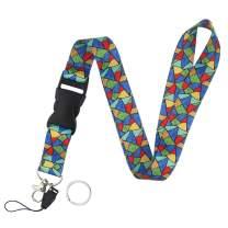 Yiflin Breakaway Lanyard for Keys, Keychain, Wallet, Id Holder, Cell Phone, Badge Holder, for Men and Women, Teacher, Teens (X)