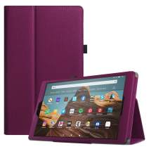 Fintie Folio Case for All-New Amazon Fire HD 10 Tablet (Compatible with 7th and 9th Generations, 2017 and 2019 Releases) - Premium PU Leather Slim Fit Stand Cover with Auto Wake/Sleep, Purple