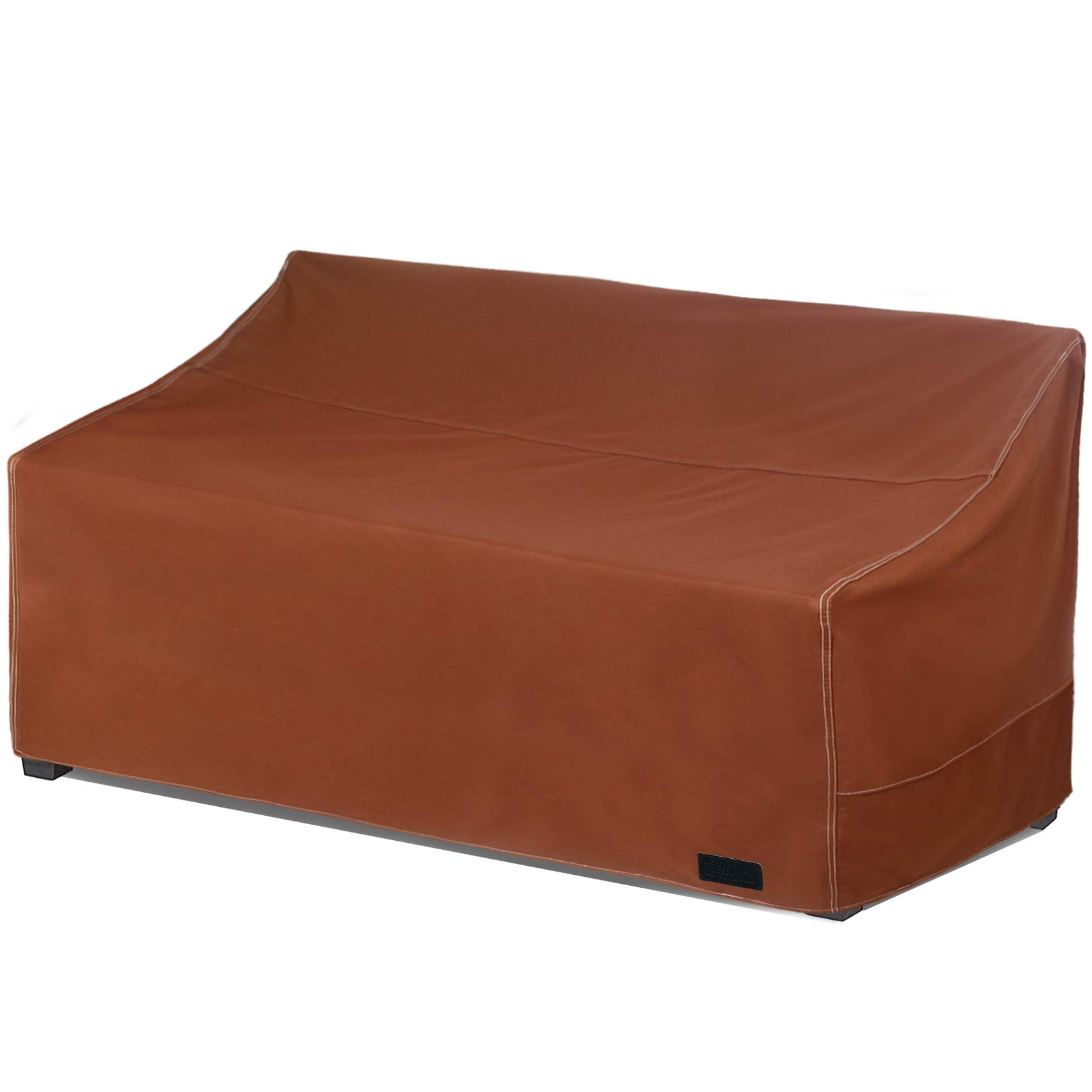 "NettyPro Patio Sofa Cover, Waterproof 600D Heavy Duty Outdoor Couch Furniture 3 Seater Cover, 79"" Wx 38"" Dx 35"" H, Brown"