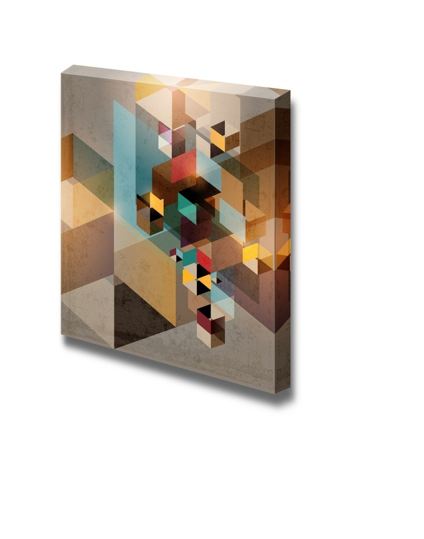 """Canvas Prints Wall Art - Abstract Design Colorful Mosaic Shapes 