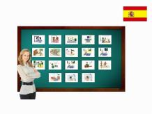 Tarjetas de vocabulario - Rutina diaria - Daily Routines Flashcards in Spanish - Vocabulary Picture Cards for Language Learning