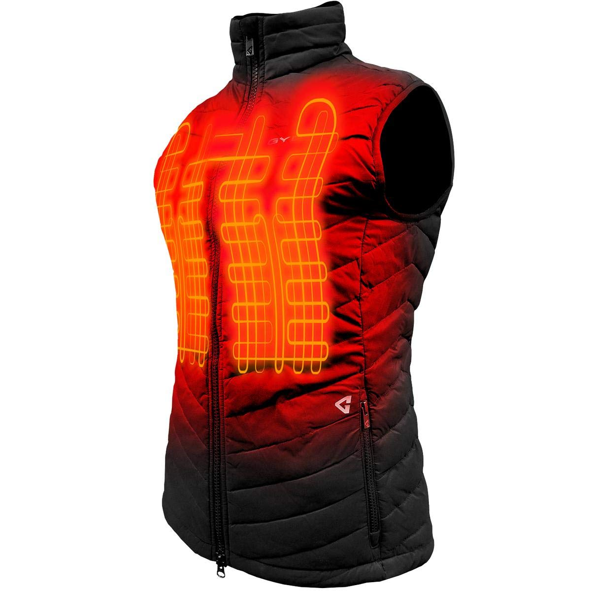 Gerbing Gyde 7V Khione Heated Vest for Women – Water Resistant Electric Puffer Vest for Winter Hiking Camping Motorcycle Riding– Sleeveless Heated Jacket with Battery Pack
