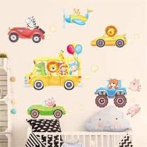 DERUN TRADING Cartoon Animal Cat Wall Stickers Murals Decals Home Decor for Living Room Kids Room Home Improvement Paint Wall Treatments Wall Decals Murals Decor Vinyl Removable Mural Paper …