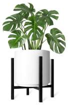Mkono Plant Stand Mid Century Modern Tall Pot Stand Indoor (Plant Pot Not Included) Metal Flower Potted Plant Holder, Plants Display Rack Fits Up to 12 Inch Planter