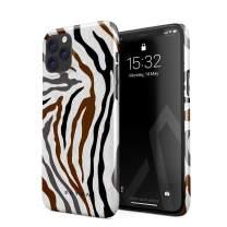 BURGA Phone Case Compatible with iPhone 11 PRO MAX - Wild Zebra Fur Skin Print Exotic Safari Savage Desert Africa Cute Case for Women Thin Design Durable Hard Plastic Protective Case