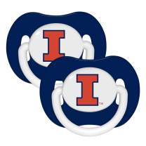 Baby Fanatic NCAA Legacy Infant Pacifiers, 2-Pack