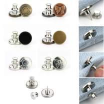 6 Sets Button Pins for Jeans,Adjustable Jean Button, No Sew Instant Button Detachable Pants Button Craft Buttons(6PCS,Style9)