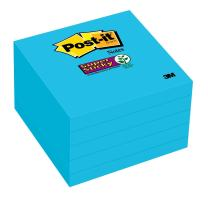 Post-it Super Sticky Notes, 2x Sticking Power, 3 x 3-Inches, Electric Blue, 5-Pads/Pack (654-5SSBE)