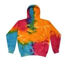 CLOTHING WORLD Tie-Dye Kids and Adult Unisex Hoodie - Cotton Hoodie Sweatshirt for Kids, Men, Women - 3D Multi-Spiral Hoodies