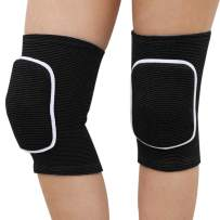 PONRAY Protective Soft Knee Pads for Dancers, Thick Sponge Collision Avoidance Kneeling Kneepad for Biking Tennis Skating Workout Climbing Exercise Yoga Dance Volleyball, 1 Pair Unisex