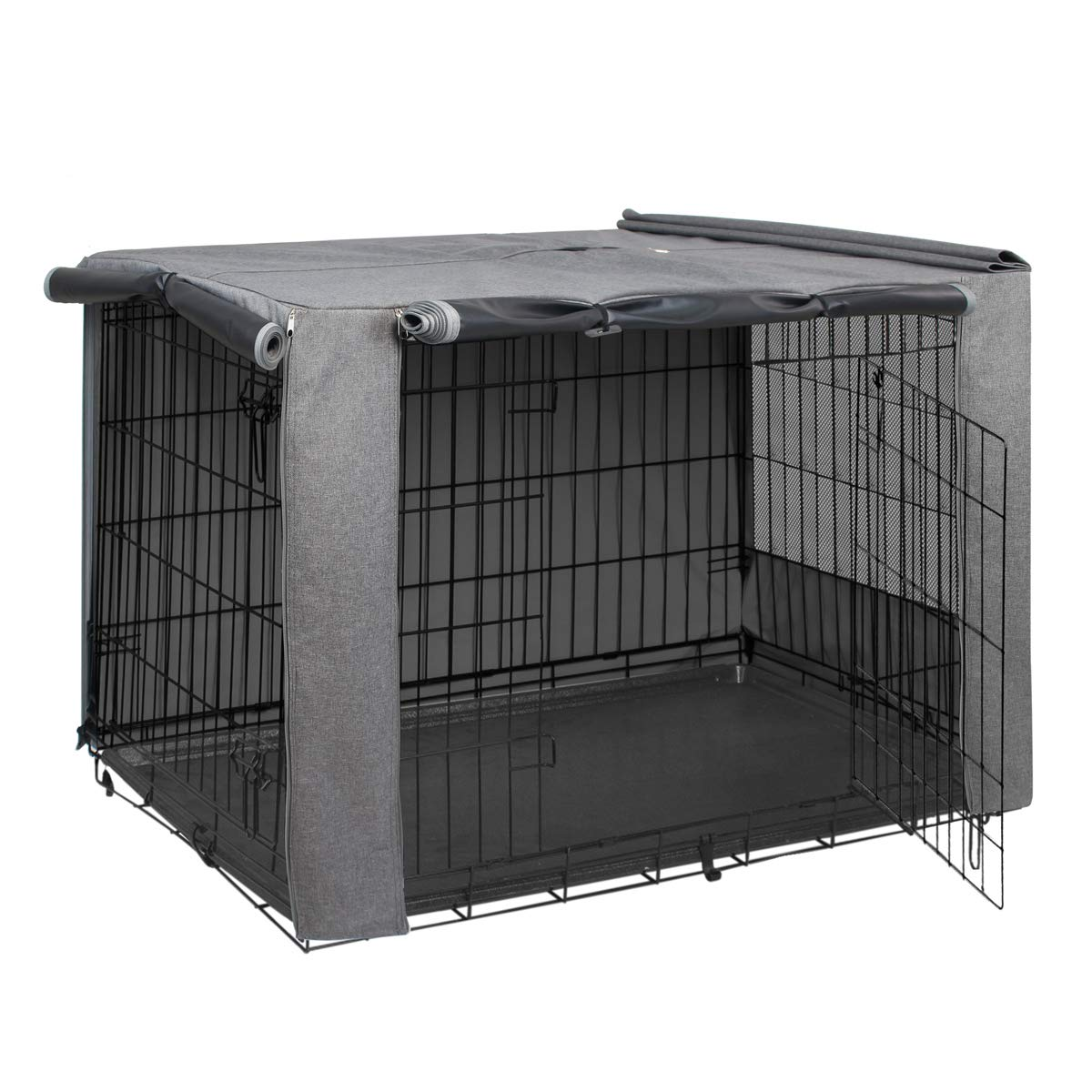 HiCaptain Double Door Dog Crate Cover(Fits 24 30 36 42 48 inches Wire Crate)